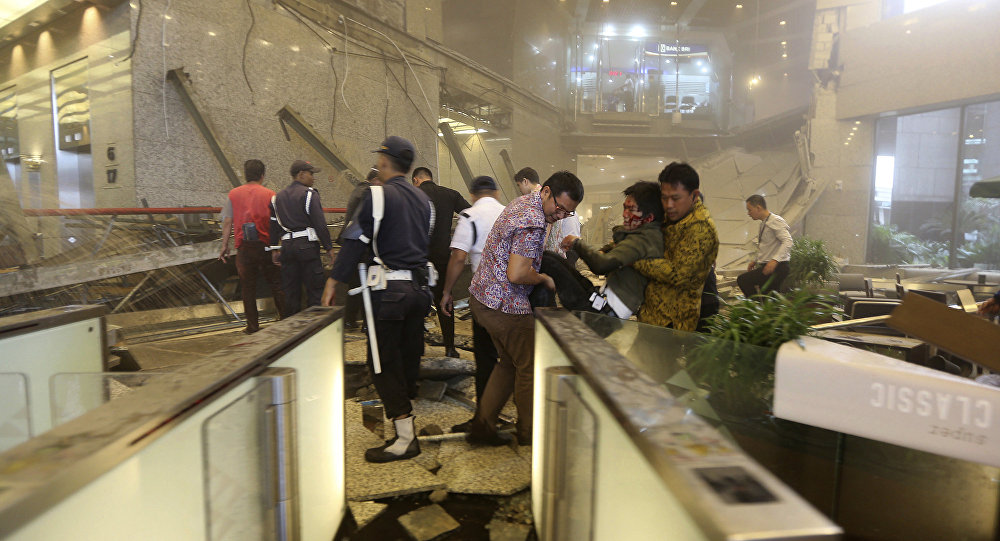 Floor of Indonesia's stock exchange collapses, injures scores