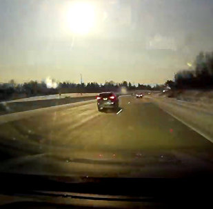 A car dash cam captures a view of a meteor near Bloomfield Hills, Michigan, U.S., January 16, 2018 in this still image from video obtained from social media