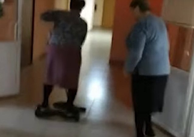 Granny on a Hoverboard