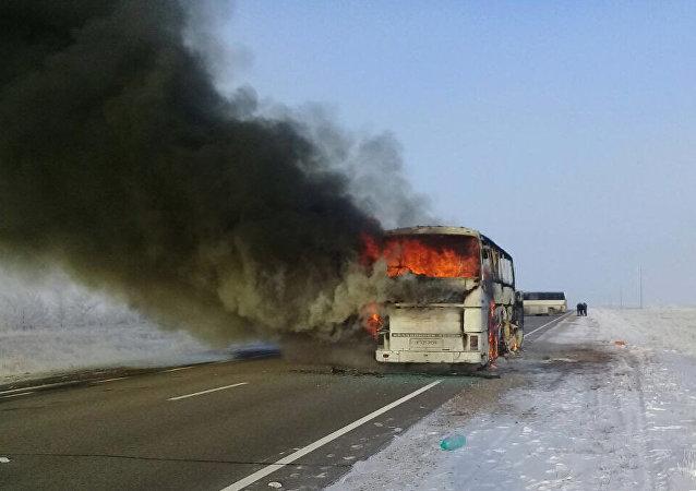 Over 50 people killed in bus fire in Kazakhstan