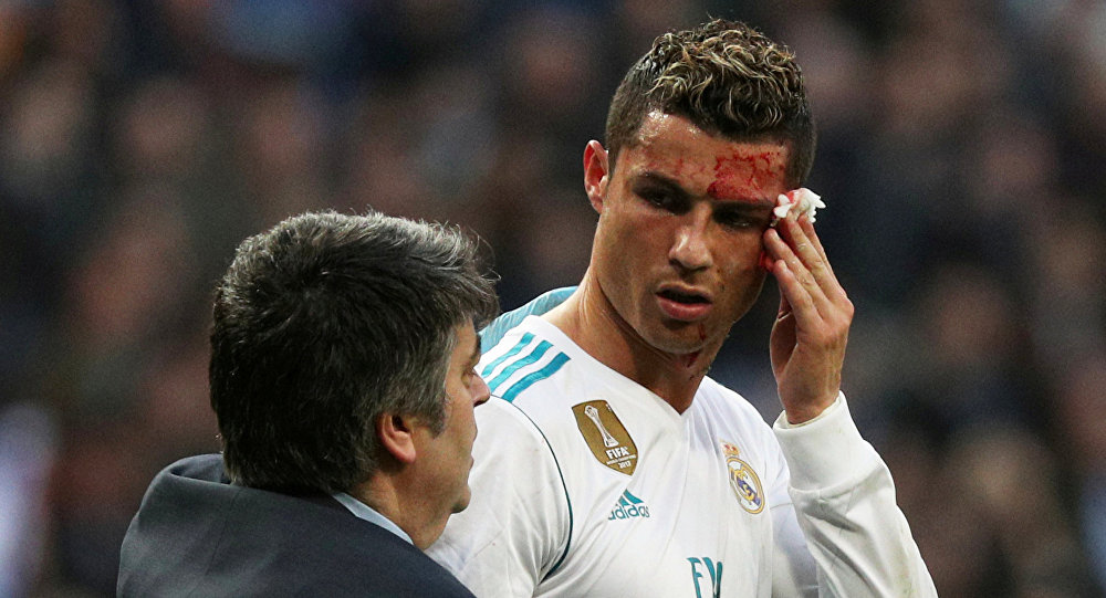 What A Day For Ronaldo Joke On Messi Two Goals Bleeding Face