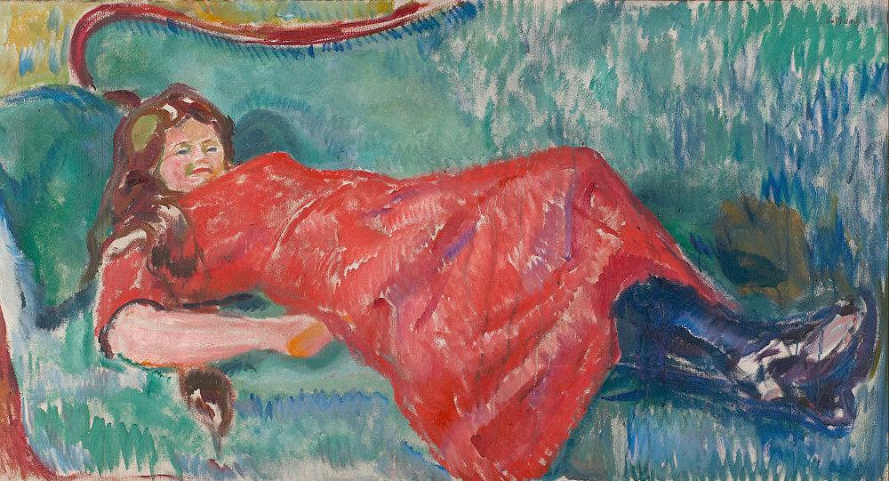 Edvard Munch - On the Sofa