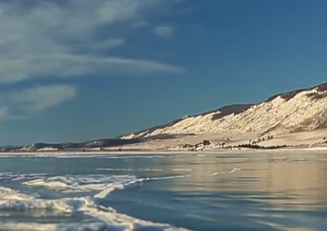 Ice-Skating at Lake Baikal