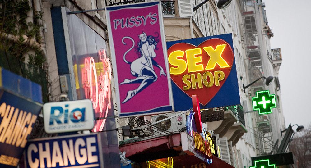 Sex shops at the Paris district of Pigalle (File)