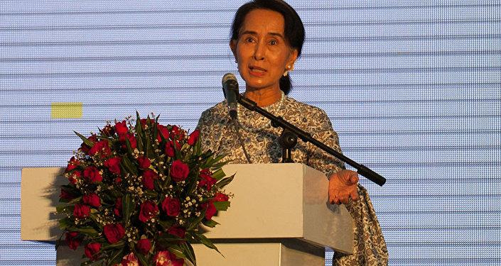 Myanmar's civilian leader Aung San Suu Kyi (File)