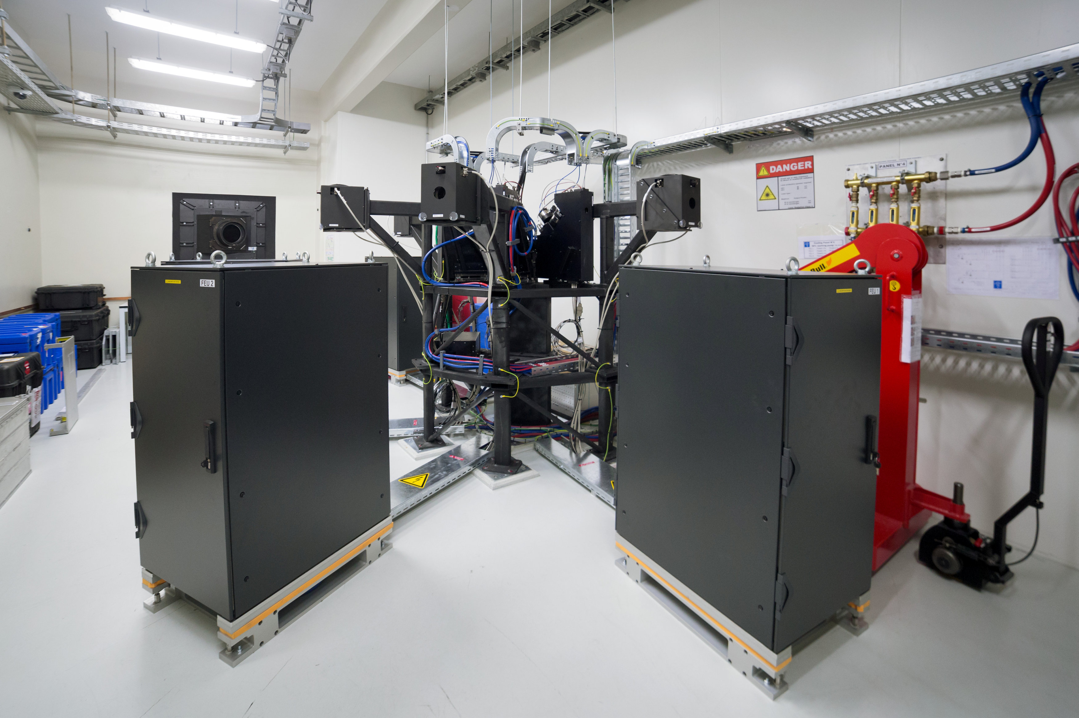 The Echelle Spectrograph for Rocky Exoplanet and Stable Spectroscopic Observation or 'ESPRESSO', is seen the at Paranal Observatory, in Antofagasta, Chile