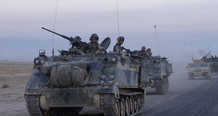 A US M113 deployed in Iraq