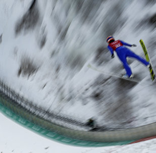 Yuki Ito, of Japan, practices for the women's ski jump competition in the 2018 Winter Olympics at the Alpensia Ski Jumping Center in Pyeongchang, South Korea, Saturday, Feb. 10, 2018.