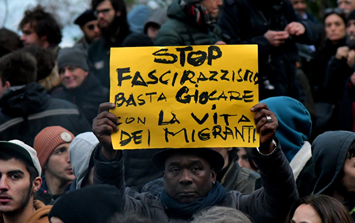 Thousands of People Protest Against Fascism in Italy (PHOTO)