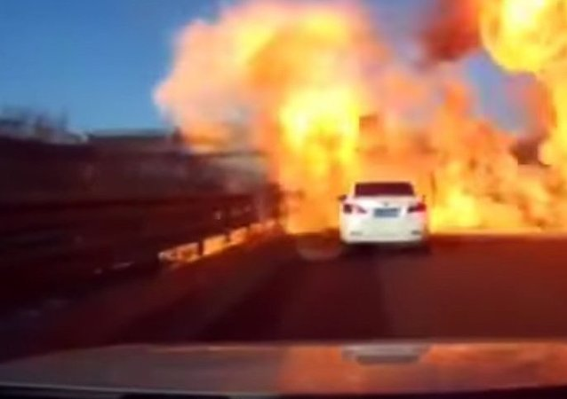Gas truck explosion