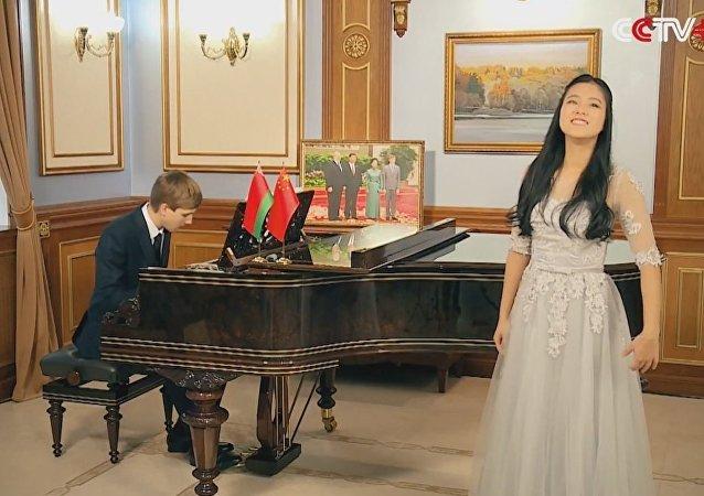 Belarusian President's Son Nikolai Lukashenko plays piano, extending Spring Festival greeting