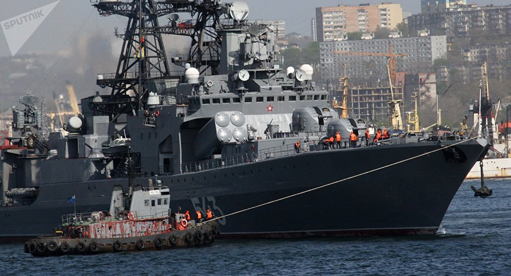 The large anti-submarine ship Marshal Shaposhnikov. File photo
