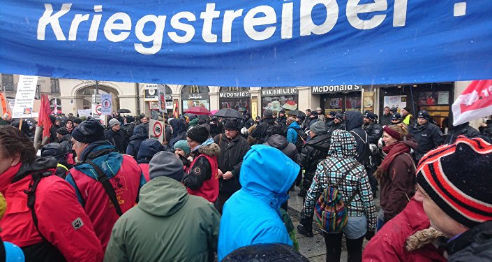 Demonstrations of pacifists in Munich