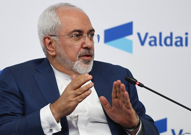 Iranian Foreign Minister Javad Zarif at the conference Russia in the Middle East: Playing on all fields held by the Valdai Discussion Club in Moscow