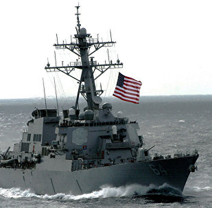 The US Navy (USN) Arleigh Burke Class Guided Missile Destroyer USS CARNEY (DDG 64)