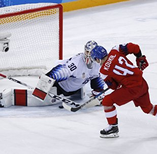 Ice Hockey - Pyeongchang 2018 Winter Olympics - Men's Quarterfinal Match - Czech Republic v U.S. - Gangneung Hockey Centre, Gangneung, South Korea - February 21, 2018 - Petr Koukal of the Czech Republic scores on goalie Ryan Zapolski of U.S. in a shootout