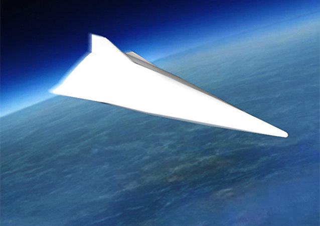 The WU-14 hypersonic glide vehicle. Artist's rendering.