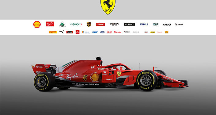 The new Ferrari F1 car model SF71H is seen in this handout photo released from Maranello, Italy, February 22, 2018.