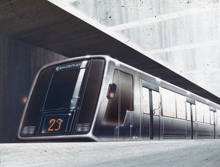 Concept art of the Silver Thread metrotrain project.