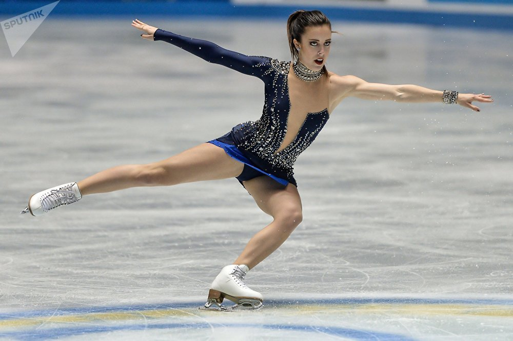 Ashley Wagner (USA) performs her short program at the ISU World Team Trophy in Figure Skating in Tokyo. (File)