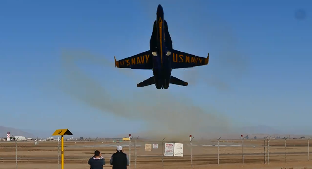 Earplugs! Blue Angels Aircraft Departs From California Airfield