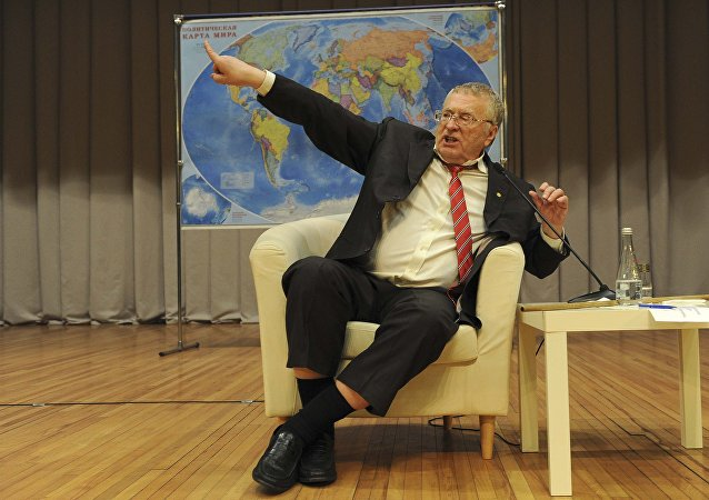 Vladimir Zhirinovsky, leader of the Liberal Democratic Party of Russia (LDPR) and candidate in the upcoming presidential election, attends a meeting with students as he visits the Don State Technical University in Rostov-on-Don, Russia February 9, 2018