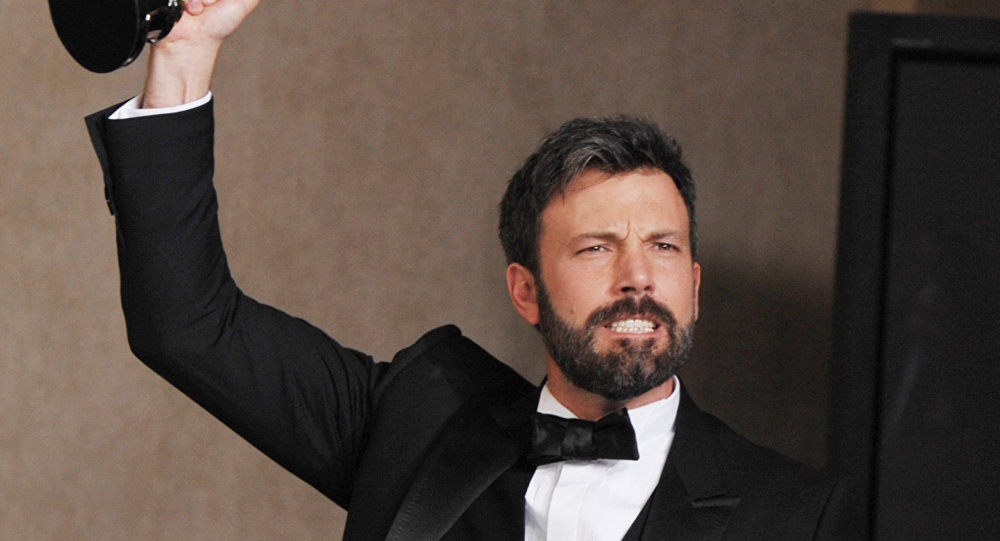 Ben Affleck poses with his award for best picture for Argo during at the Oscars at the Dolby Theatre on Sunday Feb. 24, 2013, in Los Angeles.