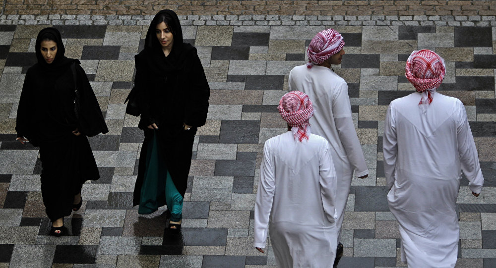 A modestly dressed women enjoy a weekend at JBR Walk in Dubai, United Arab emirates (File)