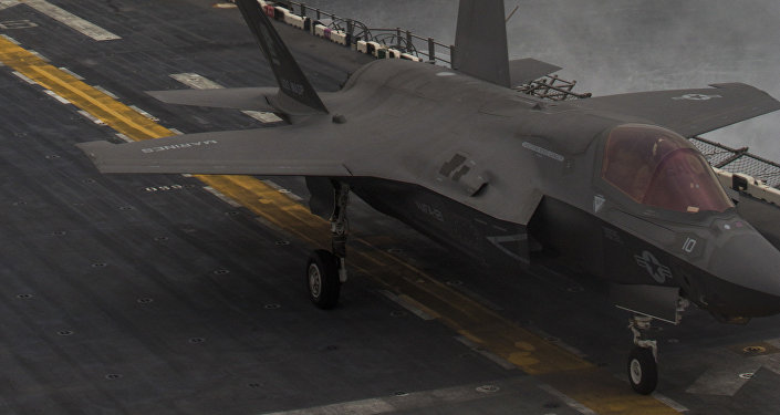 F-35Bs land on the USS Wasp