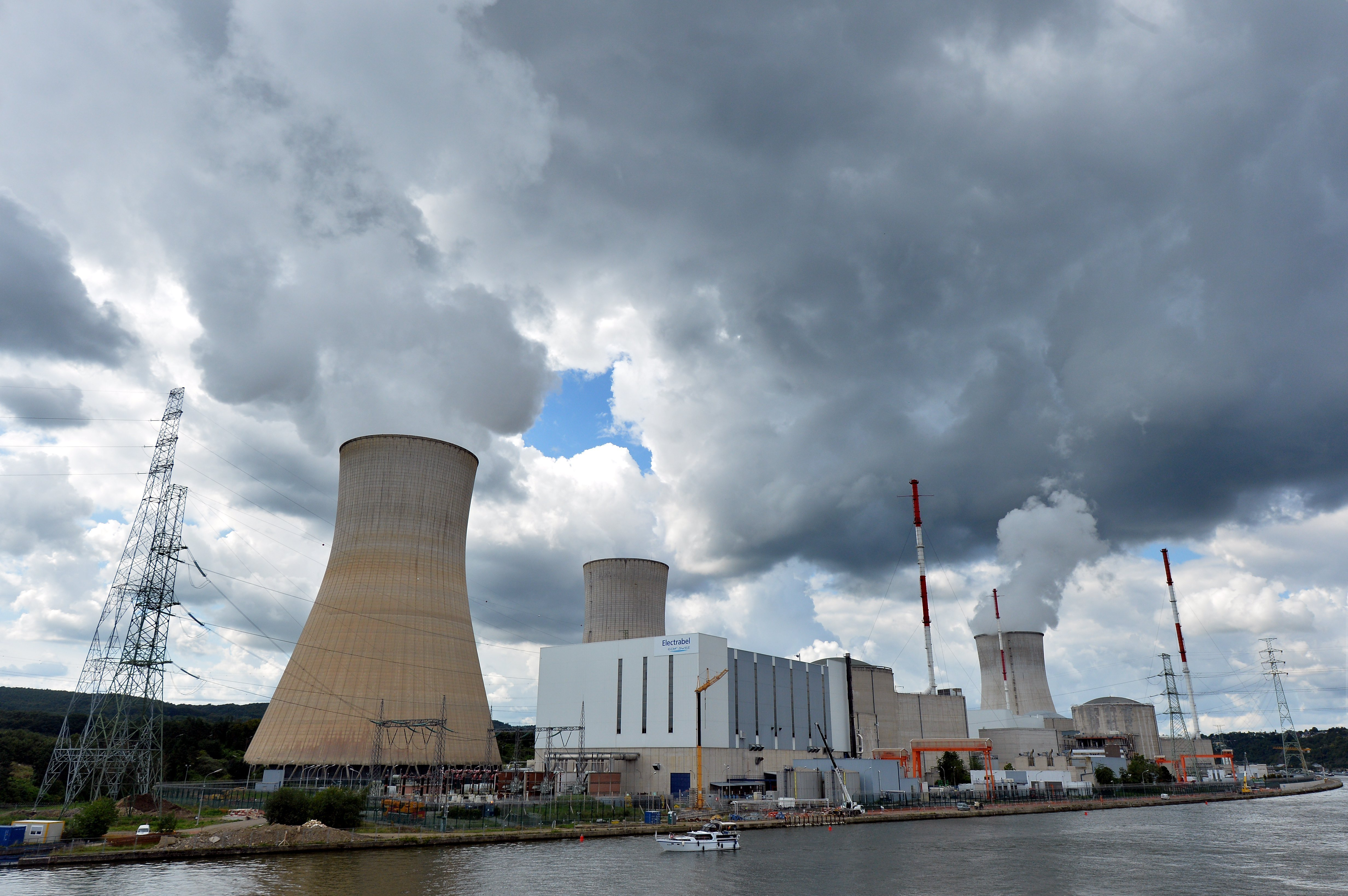 A photo taken on August 20, 2014 shows a nuclear power plant, in Tihange, Belgium.