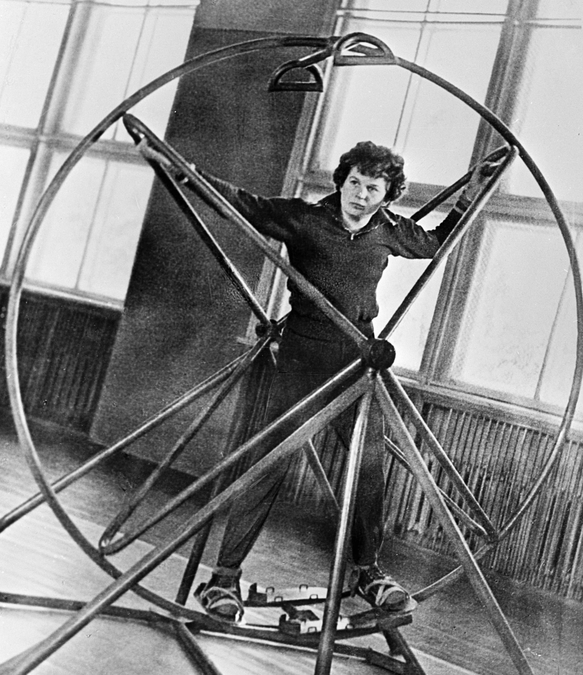 Valentina Tereshkova during training.