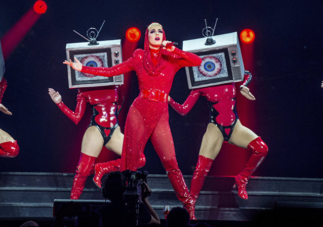 Katy Perry performs at Amalie Arena on Friday, Dec. 15, 2017, in Tampa, Fla.