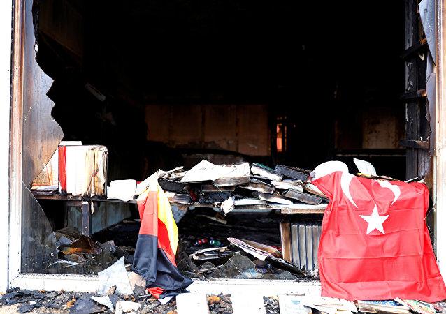 Berlin, Brandanschlag auf Moschee