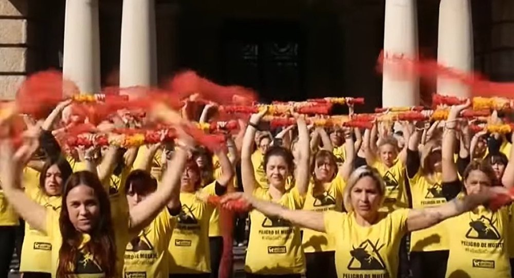 Protests in Spain Against Bull Fighting