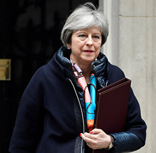 Britain's Prime Minister Theresa May leaves 10 Downing Street, in London, March 13, 2018