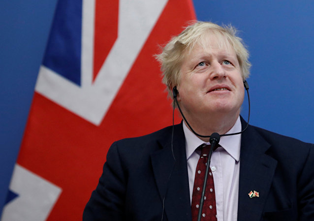 Britain's Foreign Secretary Boris Johnson attends a news conference with Hungary's Foreign Minister Peter Szijjarto (not pictured) in Budapest, Hungary, March 2, 2018.
