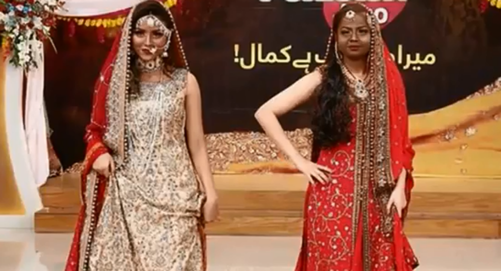 Social media in uproar after tv show 'Jago Pakistan Jago' has contestants darken skin of fair-skinned models to show off beauty techniques for dark-skinned people