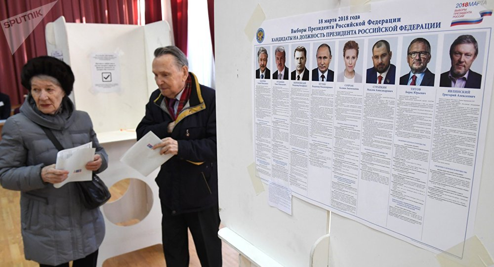 Russian presidential elections in Moscow