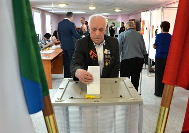 Voting in Russian presidential election