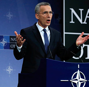 NATO Secretary-General Jens Stoltenberg addresses a news conference at the Alliance headquarters in Brussels, Belgium, March 15, 2018