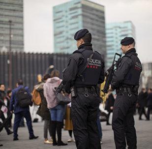 Catalan police in Barcelona, Spain. (File)