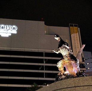 Godzilla Statue Unveiled in Central Tokyo