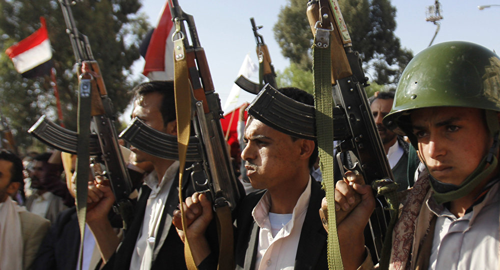 Supporters of the Shiite movement of Houthi. File photo