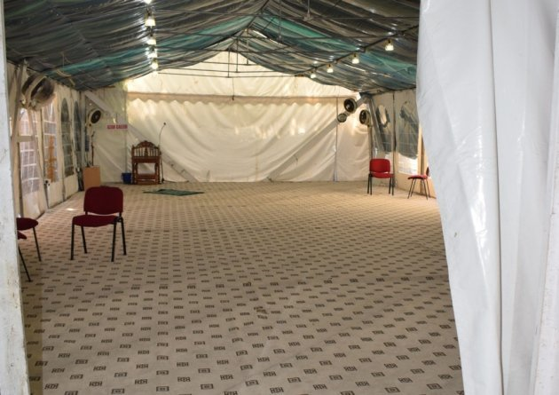 This marquee at the Ripple Road Mosque in Barking was where radicalized young boys