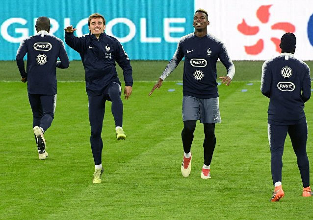 Football. French national team holds training session