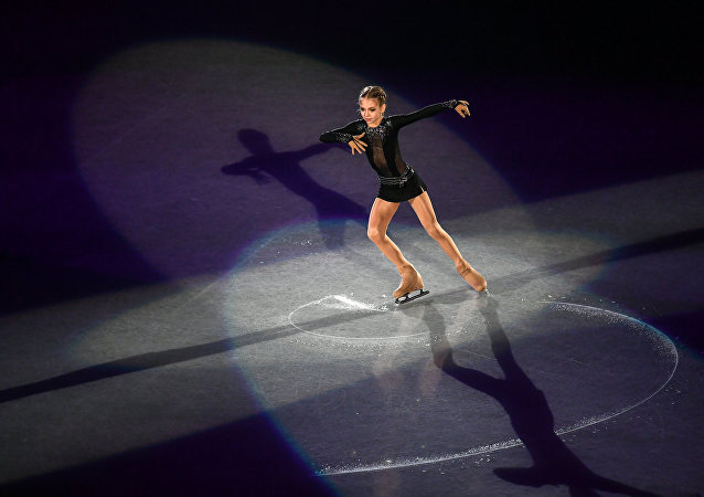 Russia's Alexandra Trusova performs during the exhibition gala at the ISU Grand Prix of Figure Skating Final in Nagoya, Japan