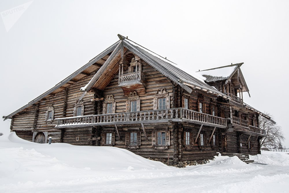 Oshevnev's House From One of Kizhi's Villages