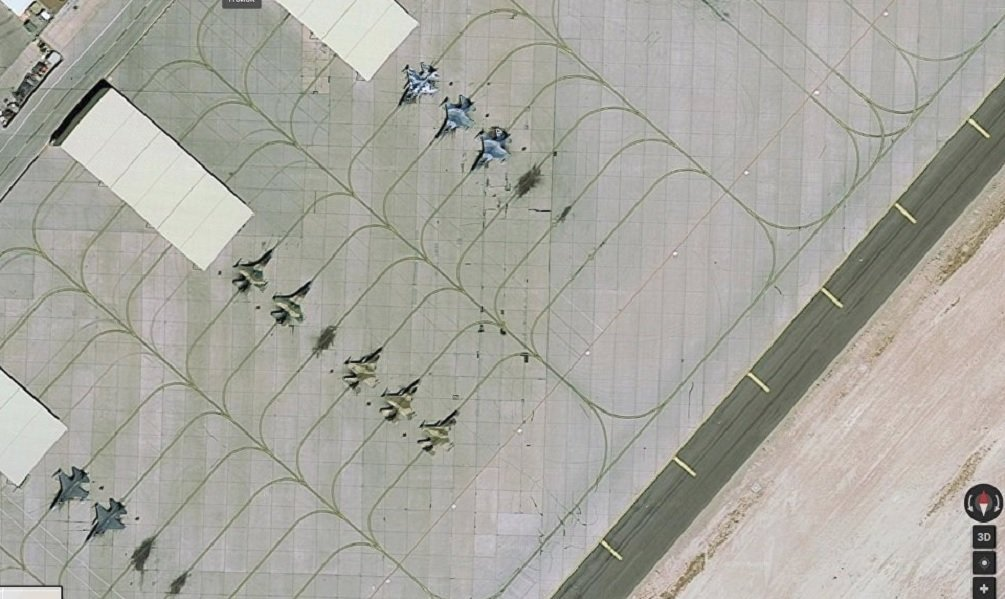 Recent satellite image from Nellis Air Force Base.