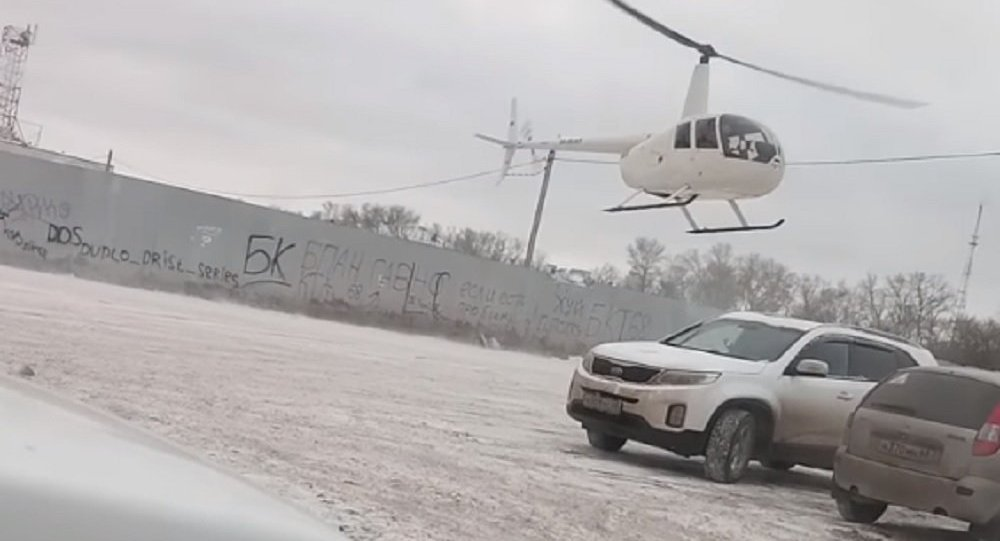 Tambov. The helicopter flew directly to the parking lot at Stroydepo