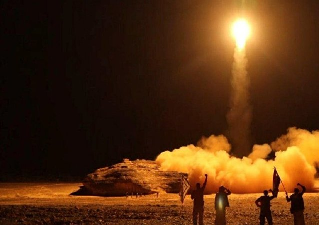 The launch by Houthi forces of a ballistic missile aimed at Saudi Arabia